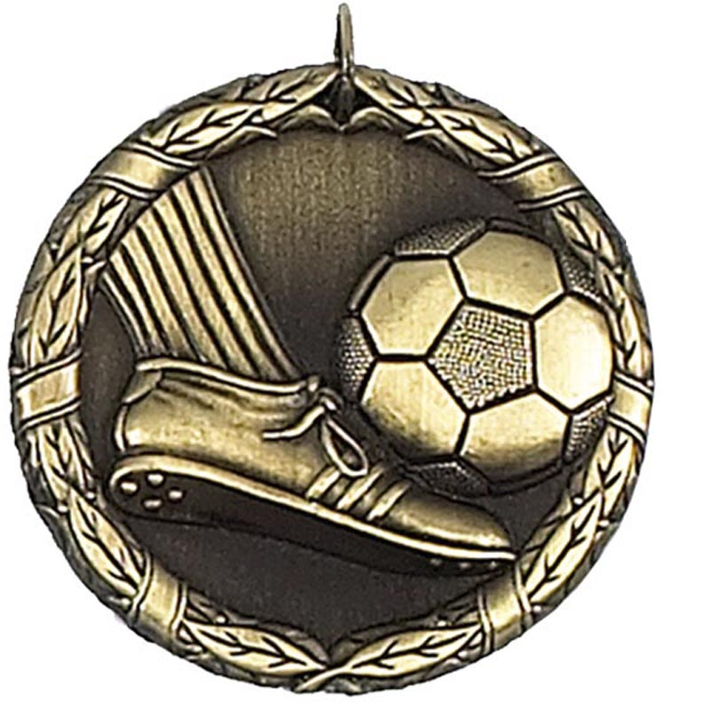 50mm Gold Laurel Football Medal