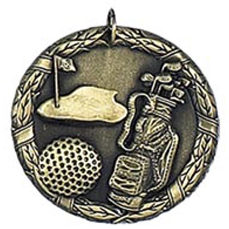 50mm Gold Laurel Golf Medal