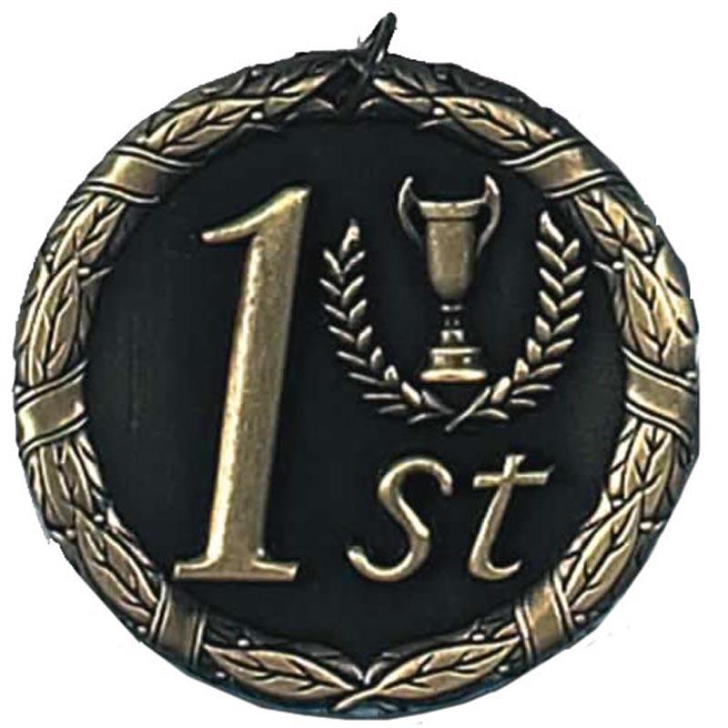 50mm Gold Laurel 1St Place Medal