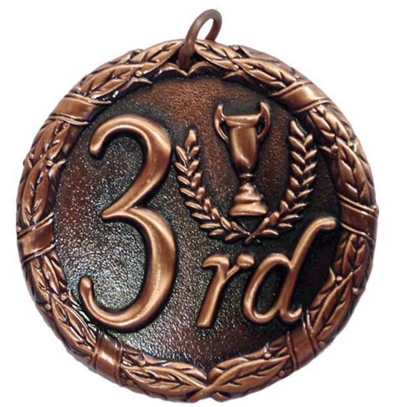 50mm Bronze Laurel 3Rd Place Medal