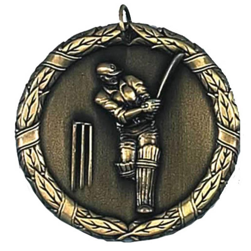 50mm Gold Laurel Cricket Medal