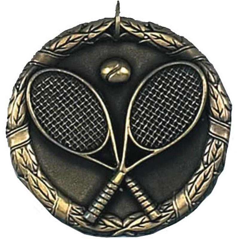 50mm Gold Laurel Tennis Medal