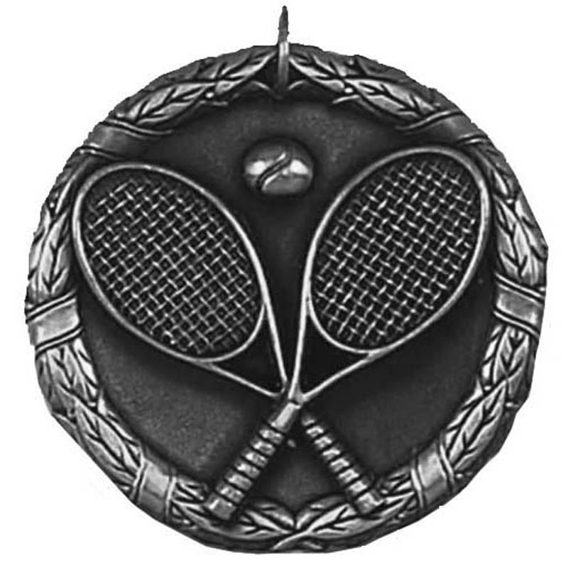 50mm Silver Laurel Tennis Medal