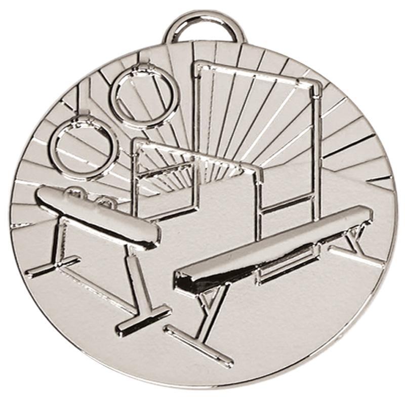 Silver Horse, Bars & Hoops Gymnastics Target Medal