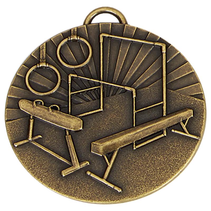 Bronze Horse, Bars & Hoops Gymnastics Target Medal