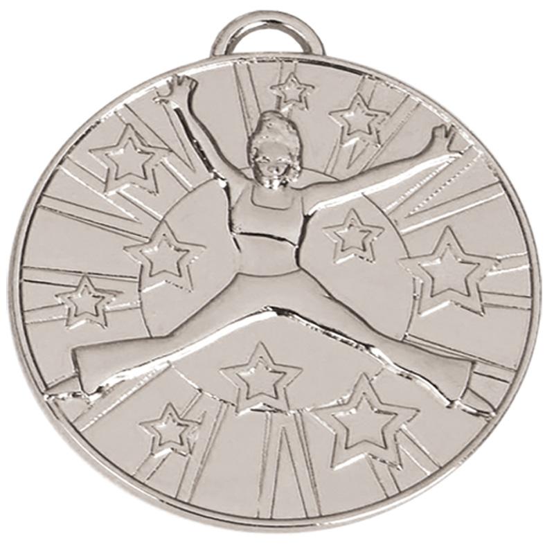 50mm Silver Dancer Star Dance Target Medal