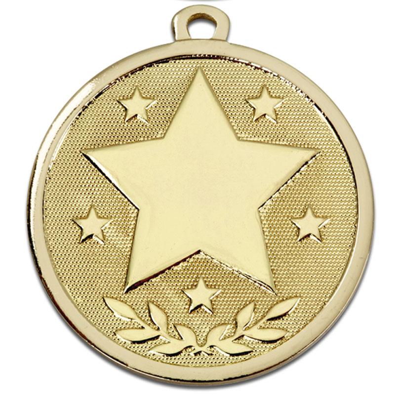 45mm Gold Star Galaxy Medal