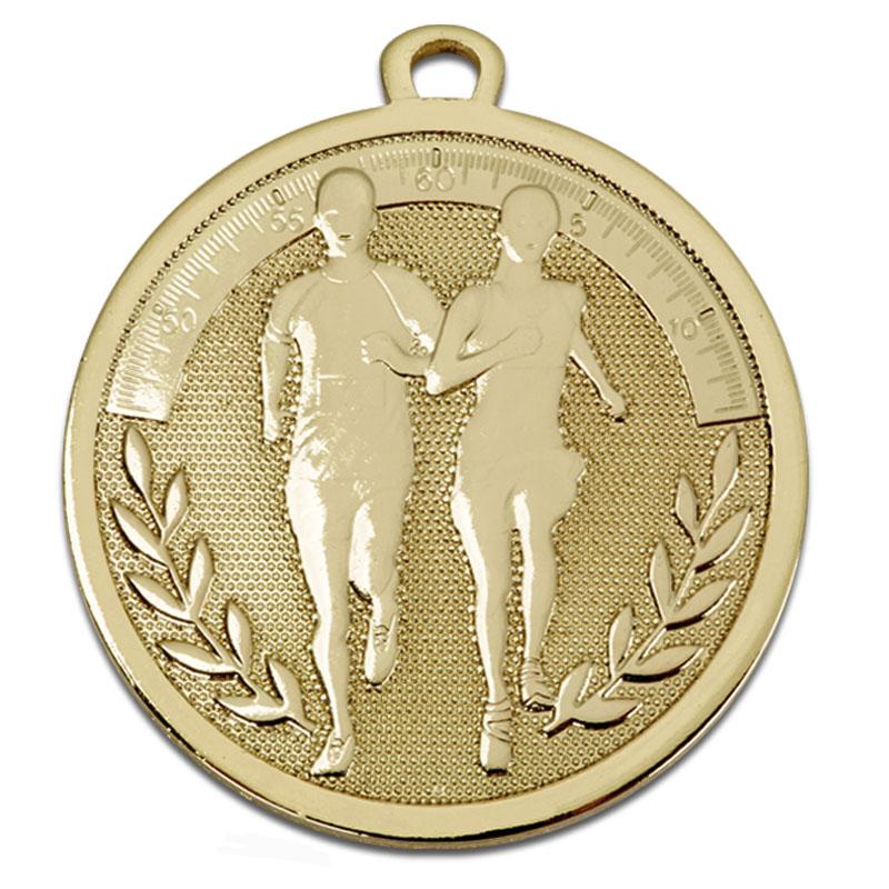 45mm Gold Wreath Running Galaxy Medal