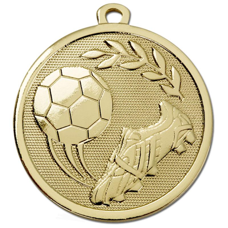 Gold Sweeping Kick Football Galaxy Medal