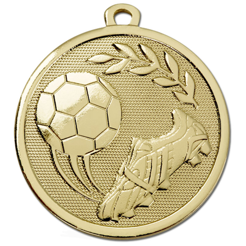 45mm Gold Sweeping Kick Football Galaxy Medal