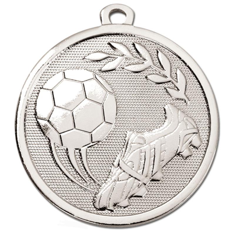 Silver Sweeping Kick Football Galaxy Medal
