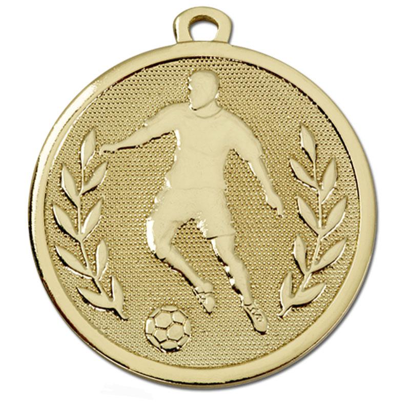 Gold Soccer Football Galaxy Medal
