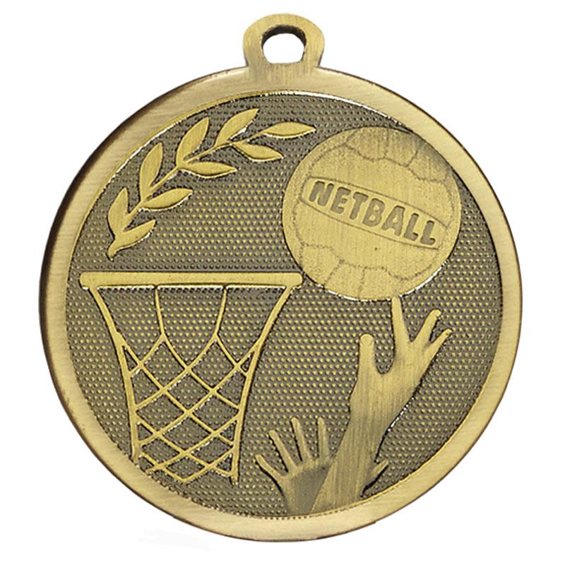 45mm Bronze Ball & Net Netball Galaxy Medal