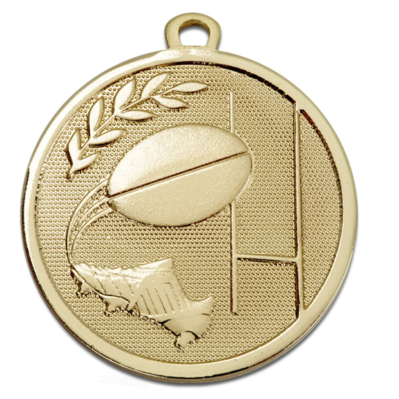 Gold Goal Kick Rugby Galaxy Medal