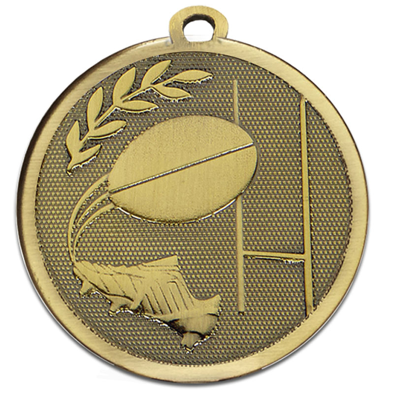 45mm Bronze Goal Kick Rugby Galaxy Medal