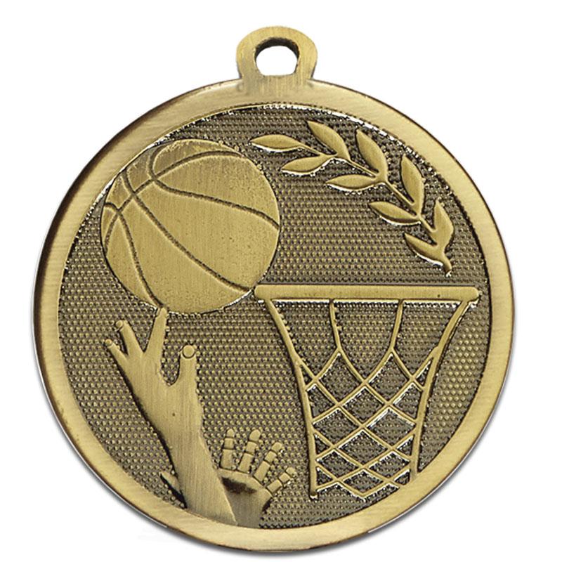 45mm Bronze Ball & Net Basketball Galaxy Medal