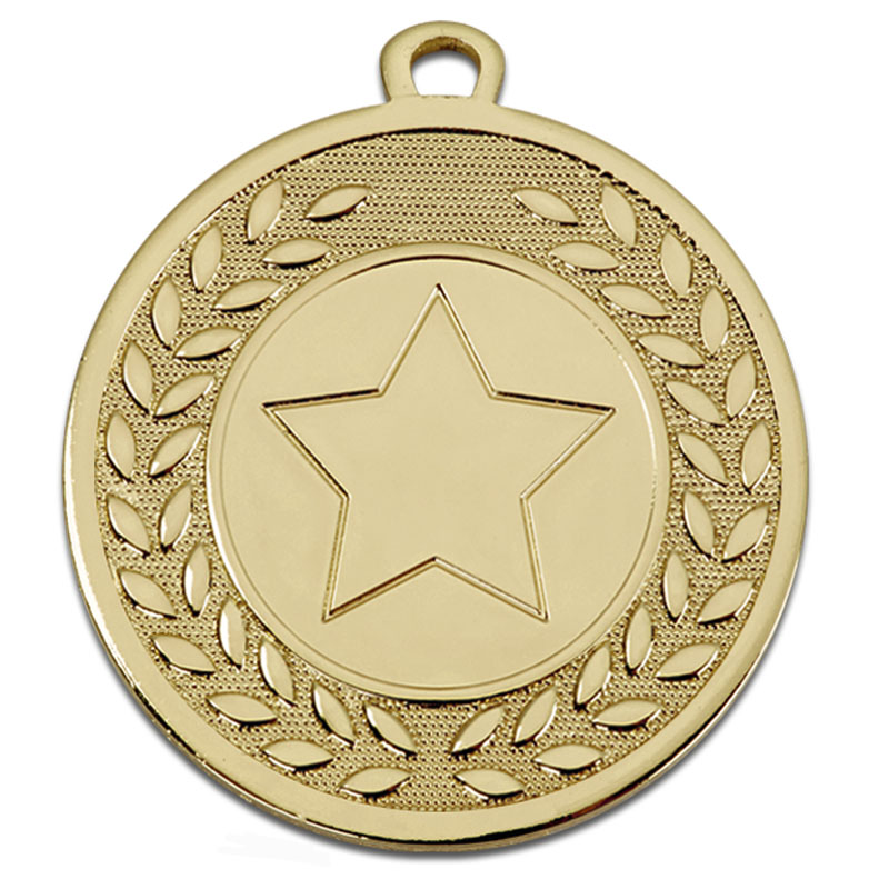 45mm Gold Wreath Star Galaxy Medal