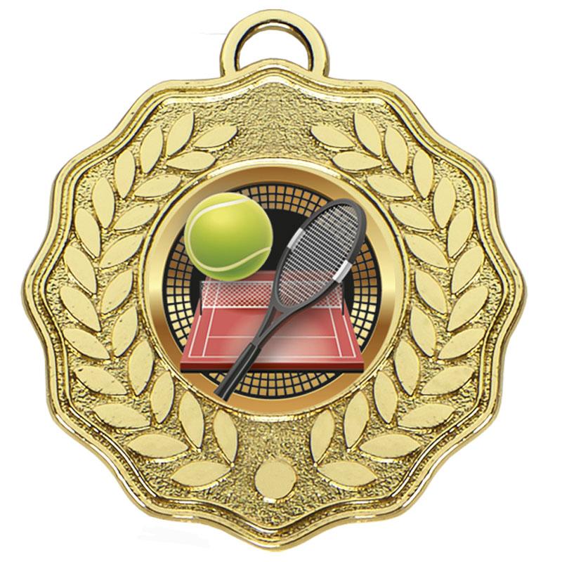 50mm Gold Centre Holder Wreath Target Medal