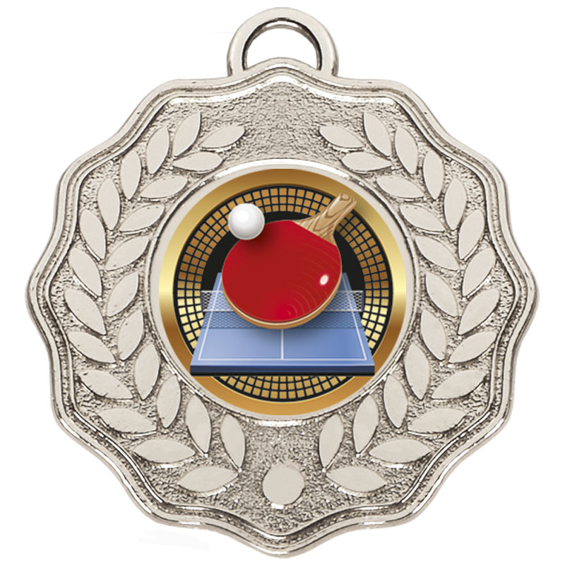 Silver Centre Holder Wreath Target Medal