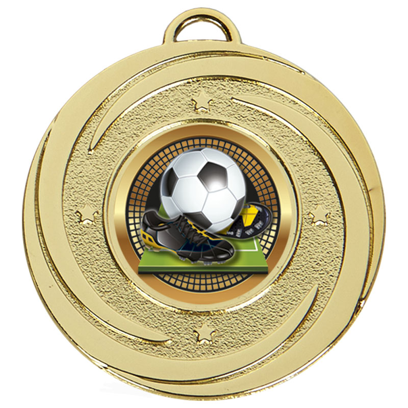 50mm Gold Centre Holder Stars Target Medal