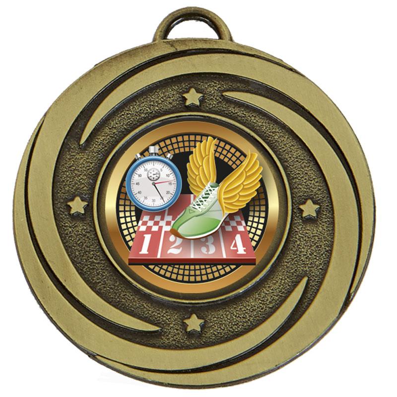 50mm Bronze Centre Holder Stars Target Medal