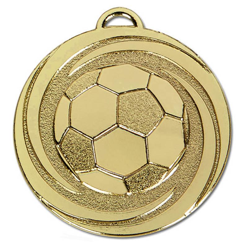 50mm Gold Ball in Vortex Football Target Medal