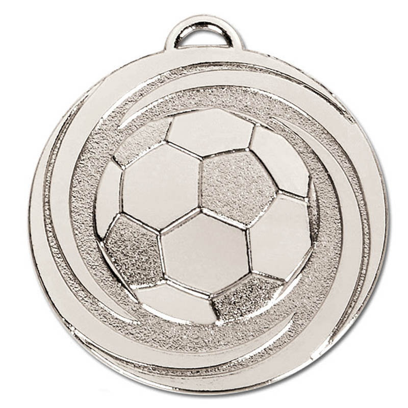 50mm Silver Ball in Vortex Football Target Medal