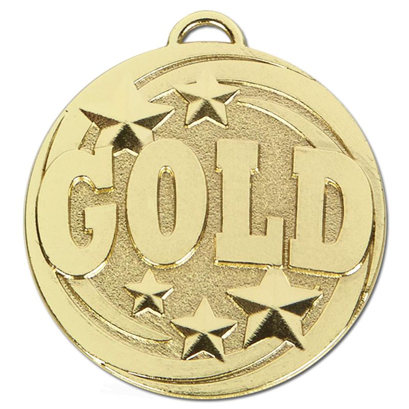 50mm Gold Text Target Medal