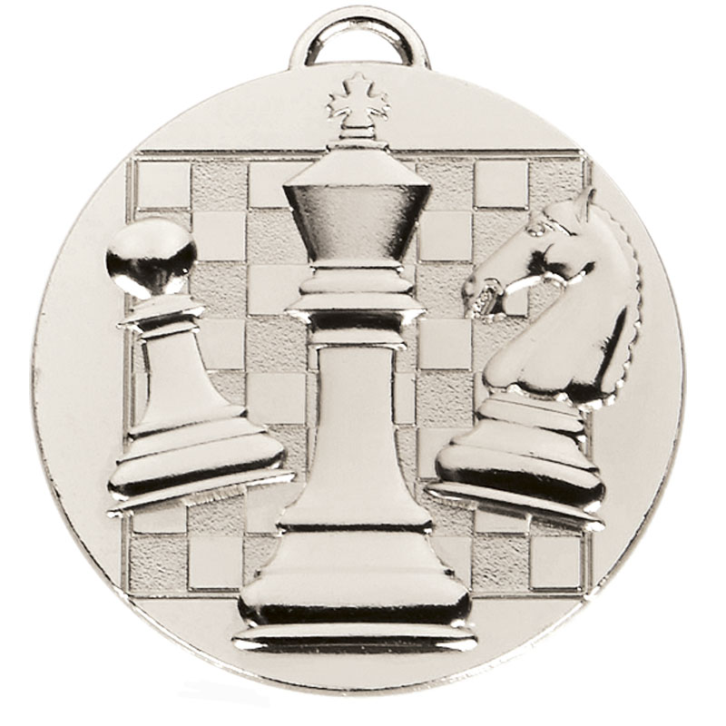 50mm Silver Chess Target Medal
