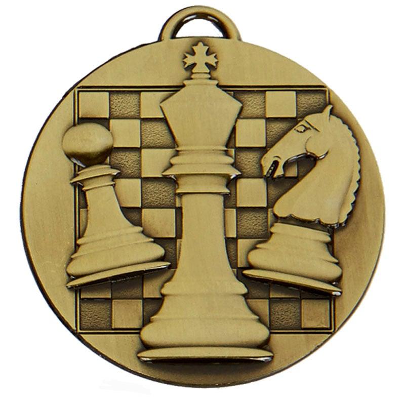 50mm Bronze Chess Target Medal