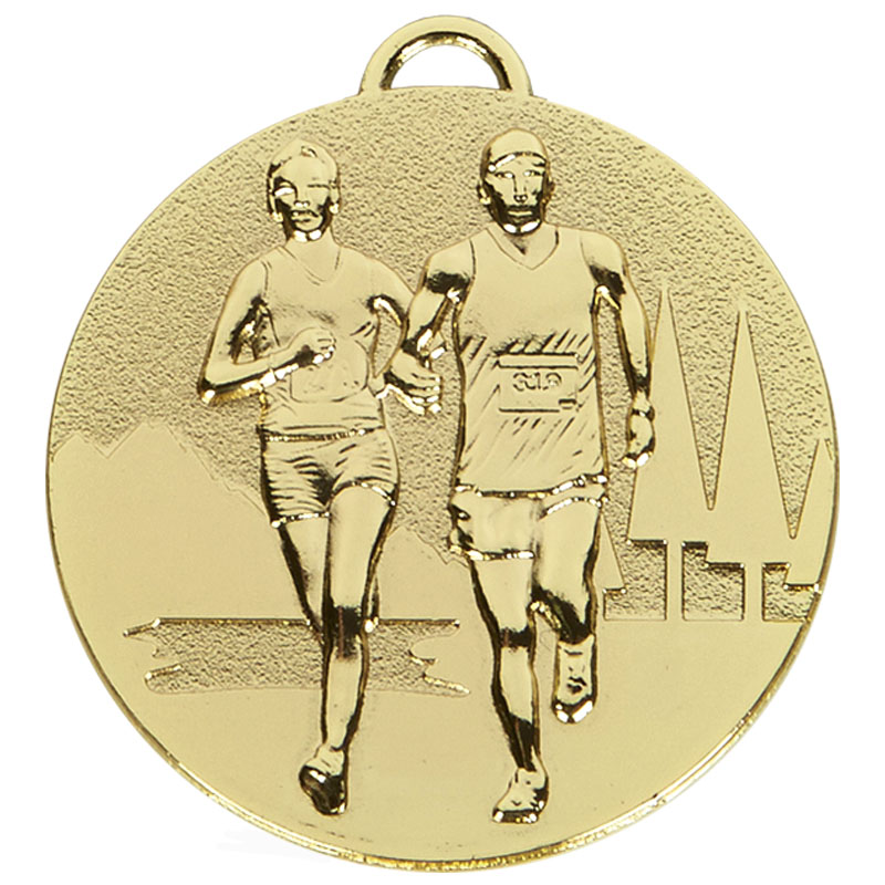50mm Gold Cross Country Running Target Medal