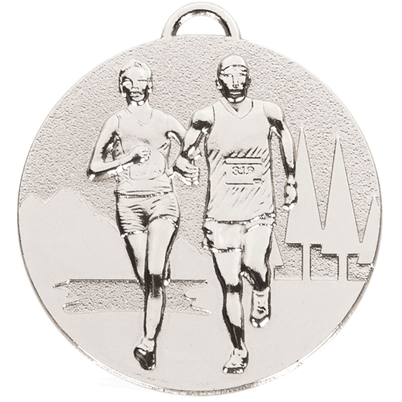50mm Silver Cross Country Running Target Medal