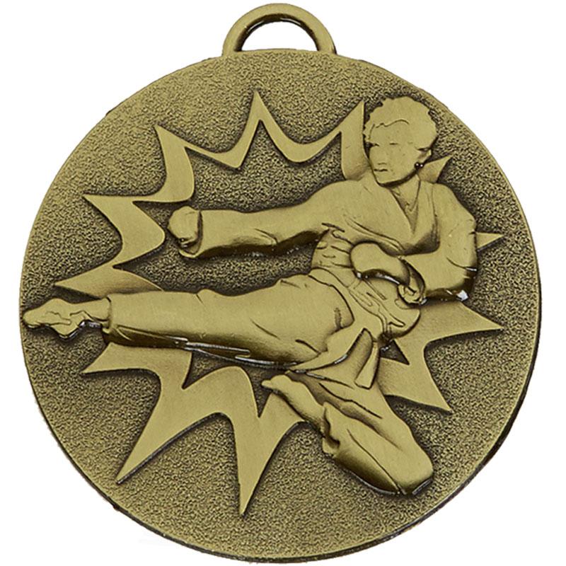 50mm Bronze Flying Kick Karate Target Medal