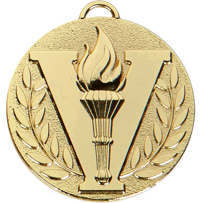50mm Gold Victory Torch Target Medal