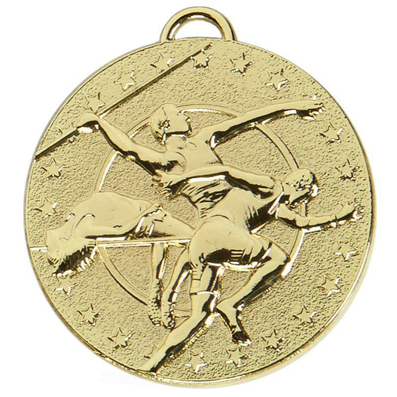 50mm Gold Javelin Track & Field Target Medal