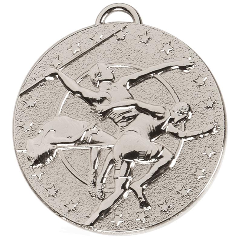50mm Silver Javelin Track & Field Target Medal