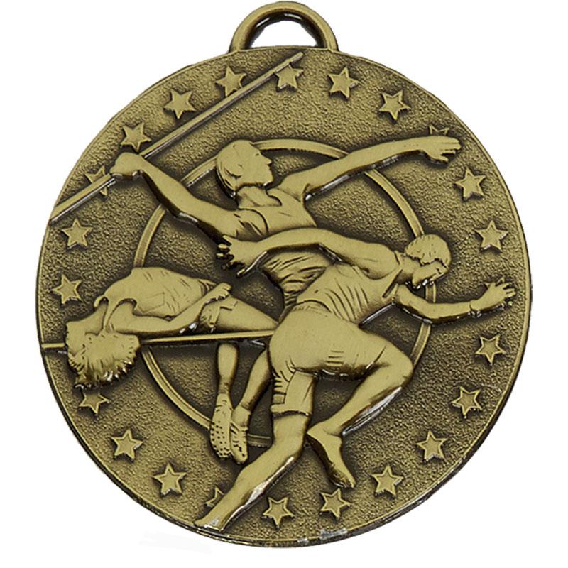 50mm Bronze Javelin Track & Field Target Medal
