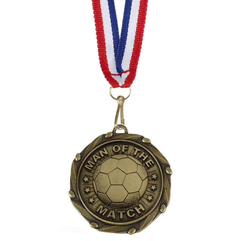 45mm Man of the Match Football Combo Medal