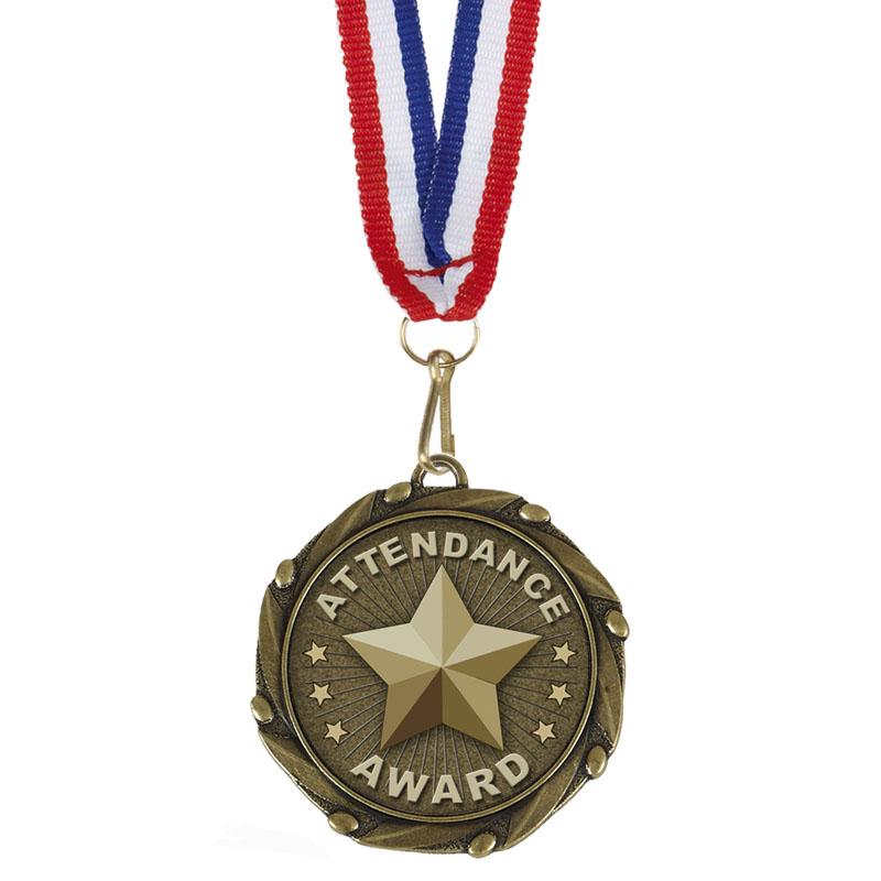 Bronze Attendance Award School Combo Medal
