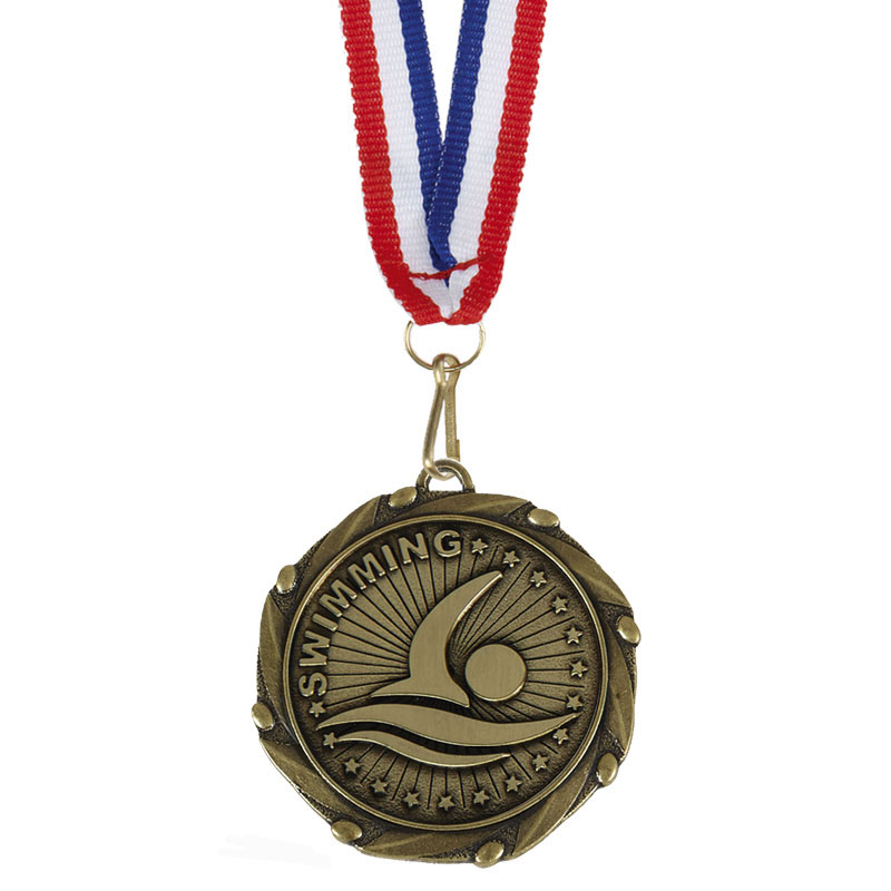 45mm Bronze Front Crawl Swimming Combo Medal