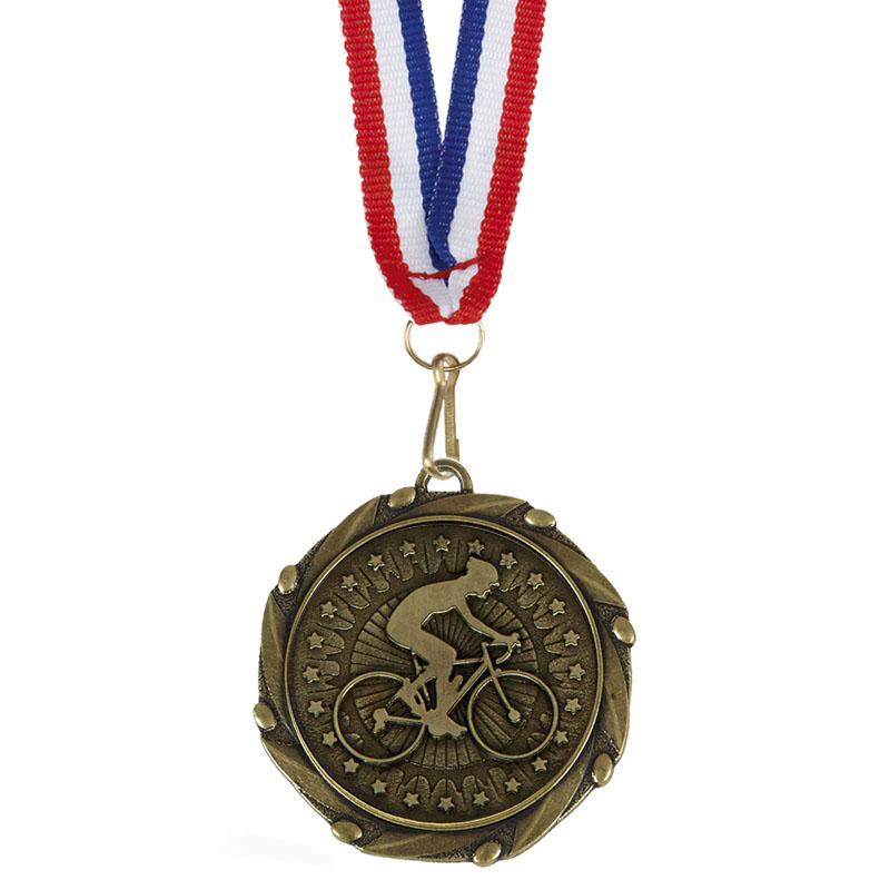 Bronze Riding Cycling Combo Medal