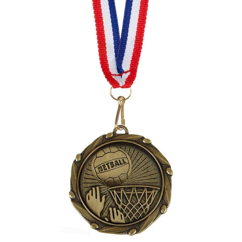 Bronze Goal Netball Combo Medal