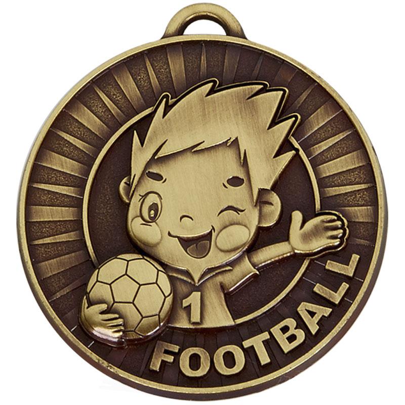 50mm Happy Player Football Kidz Medal