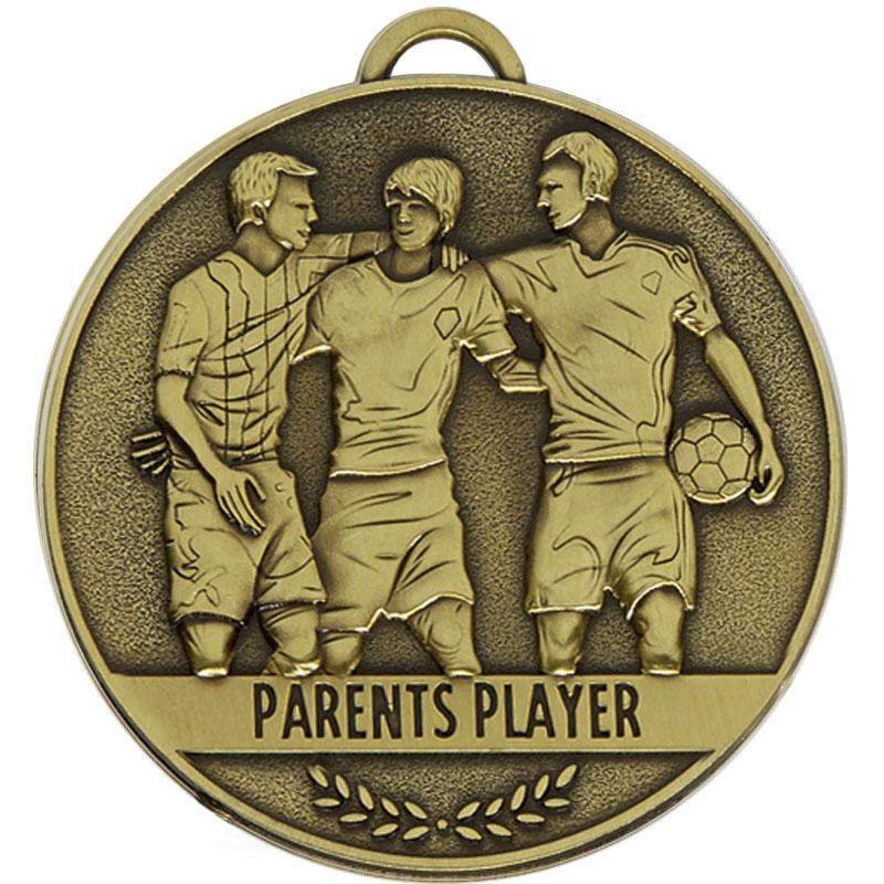 60mm Parents Player Football Team Spirit Medal