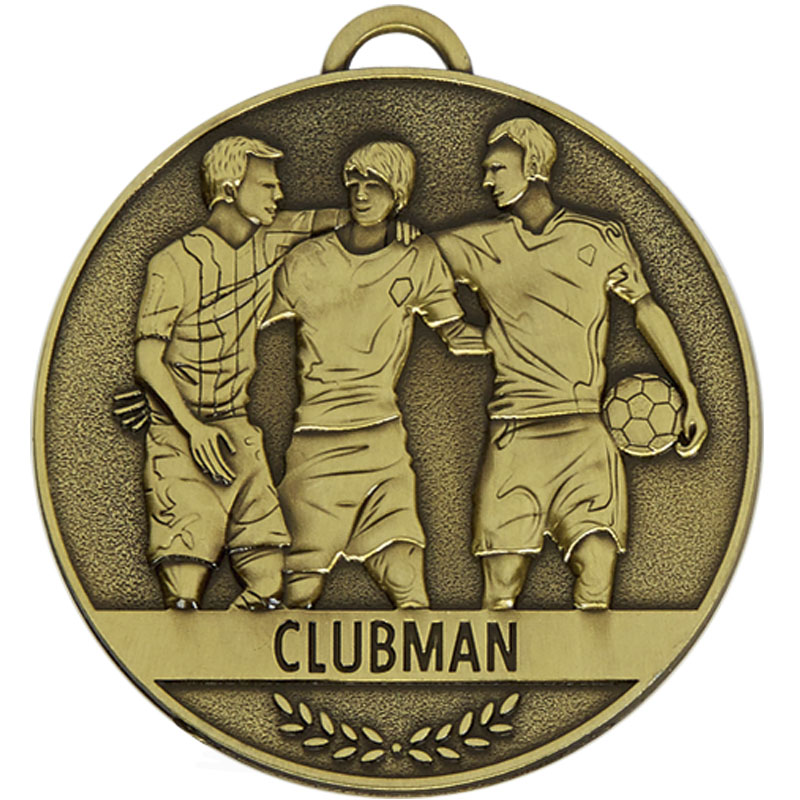 Clubman Football Team Spirit Medal