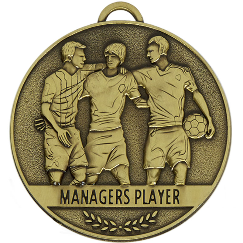 60mm Managers Player Football Team Spirit Medal