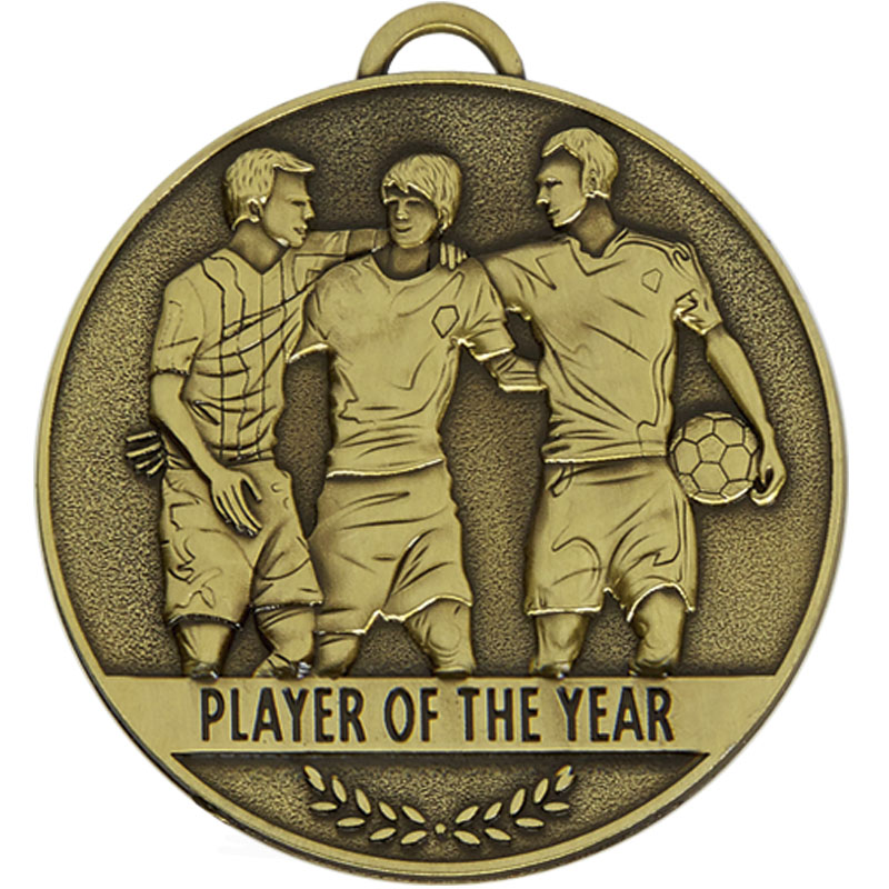 60mm player of the year Football Team Spirit Medal