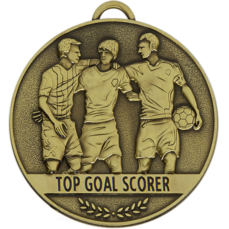 60mm top goal scorer Football Team Spirit Medal