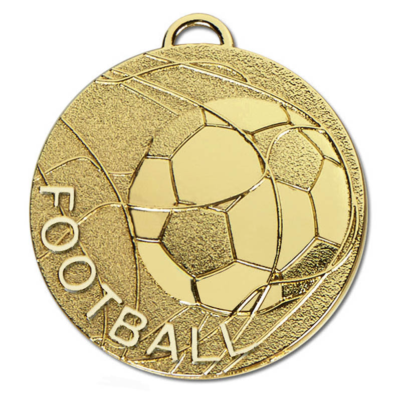 50mm Gold Rolling Ball Football Cyclone Medal