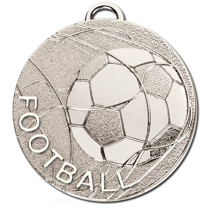 50mm Silver Rolling Ball Football Cyclone Medal